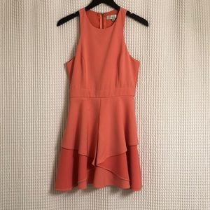Adelyn Rae fit and flare coral dress